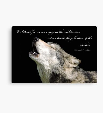 The Jubilation Of The Wolves (V2) Canvas Print