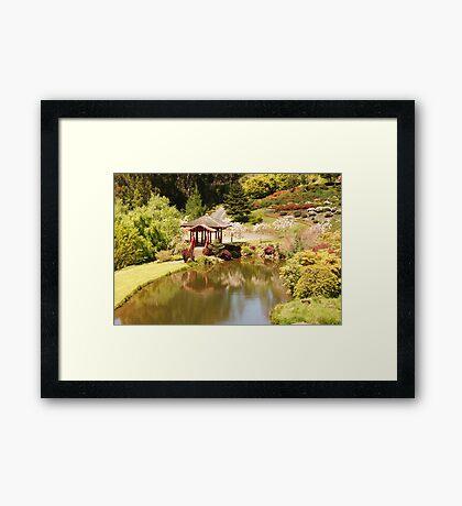 The Japanese Covered Bridge Framed Print