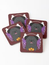 Licorice the Black Pug Coasters