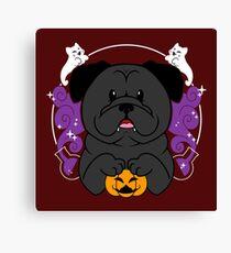 Licorice the Black Pug Canvas Print
