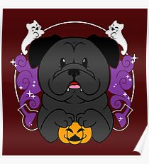Licorice the Black Pug Poster