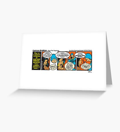 Over The Toppings Greeting Card
