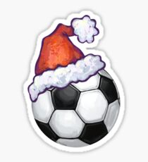 Soccer Ball Christmas Sticker