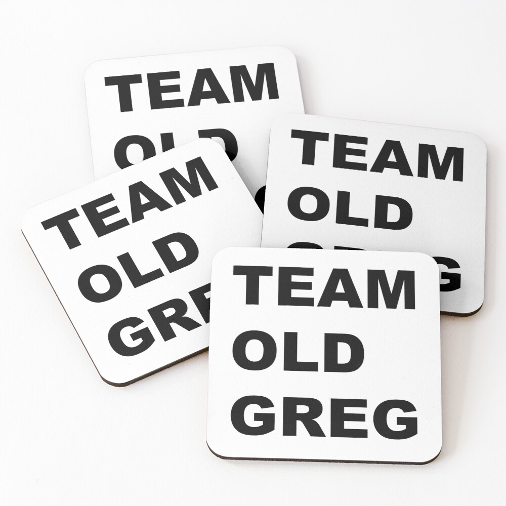 Team Old Greg Crazy Ex Girlfriend Fan art  Coasters (Set of 4)