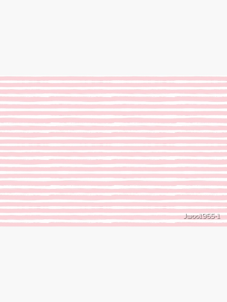 Watercolor Pink Stripes with Elephants  by Jwoo1965-1
