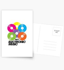 100% Electronic Music Postcards