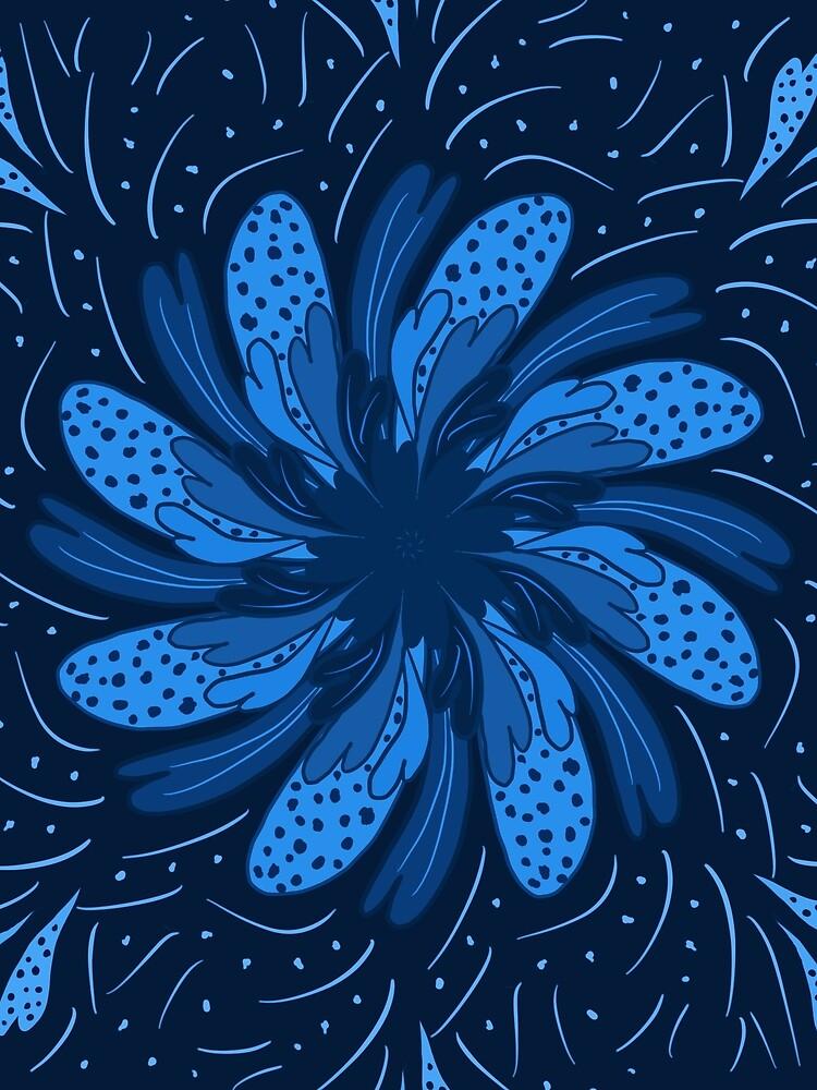 Garden Flower Blue by roseglasses