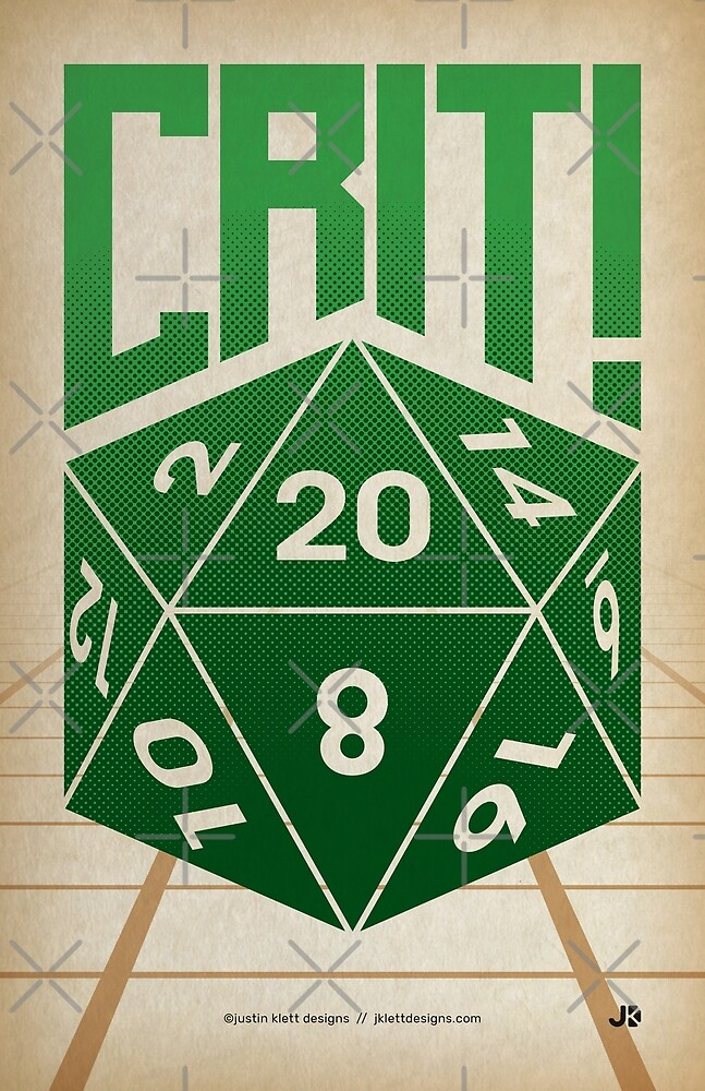 Crit Success - Green by Justin Klett