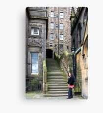 Steps to Milne's Court Canvas Print