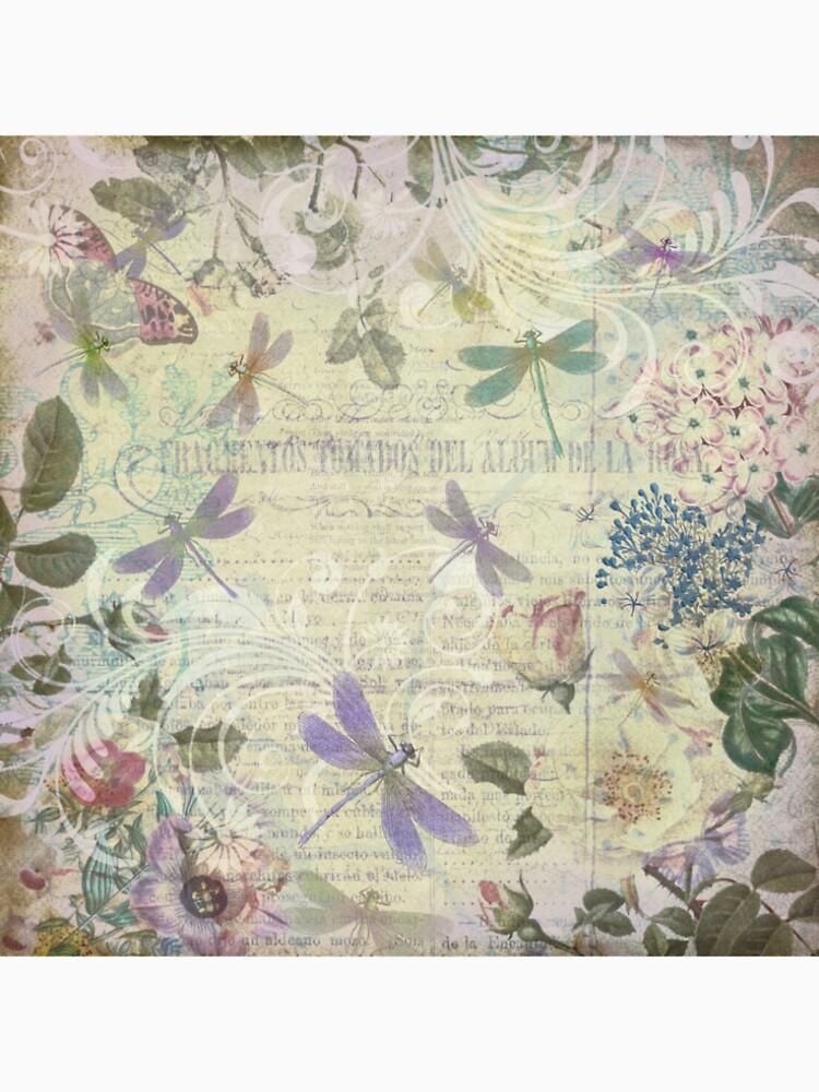 Vintage Botanical und Libellen von PeggyCollinsArt