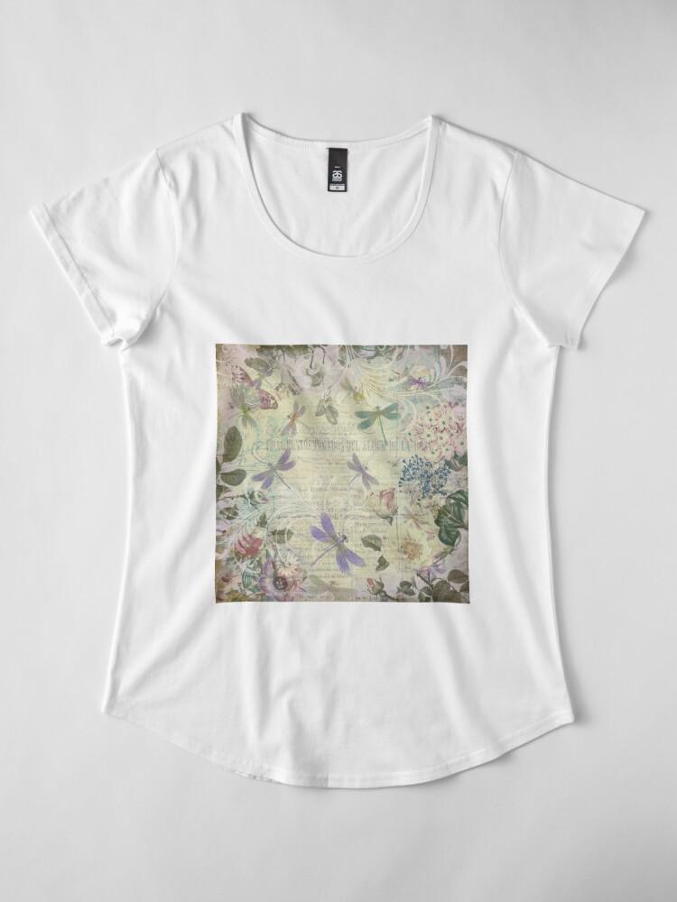 Alternative Ansicht von Vintage Botanical und Libellen Premium Rundhals-Shirt