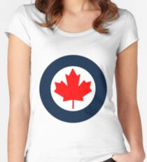 Royal Canadian Air Force Roundel Women's Fitted Scoop T-Shirt