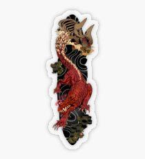Odogaron Japanese Sleeve Tattoo Transparent Sticker
