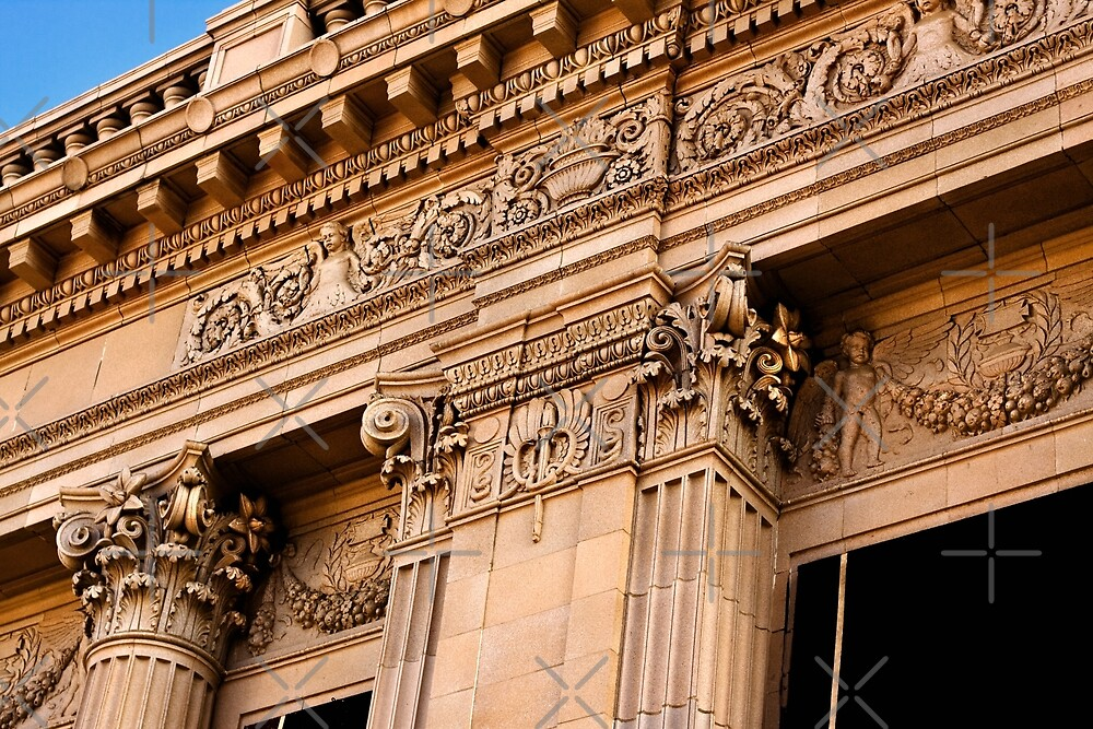 Architectural Detail of an Old Building in Fresno California by Buckwhite