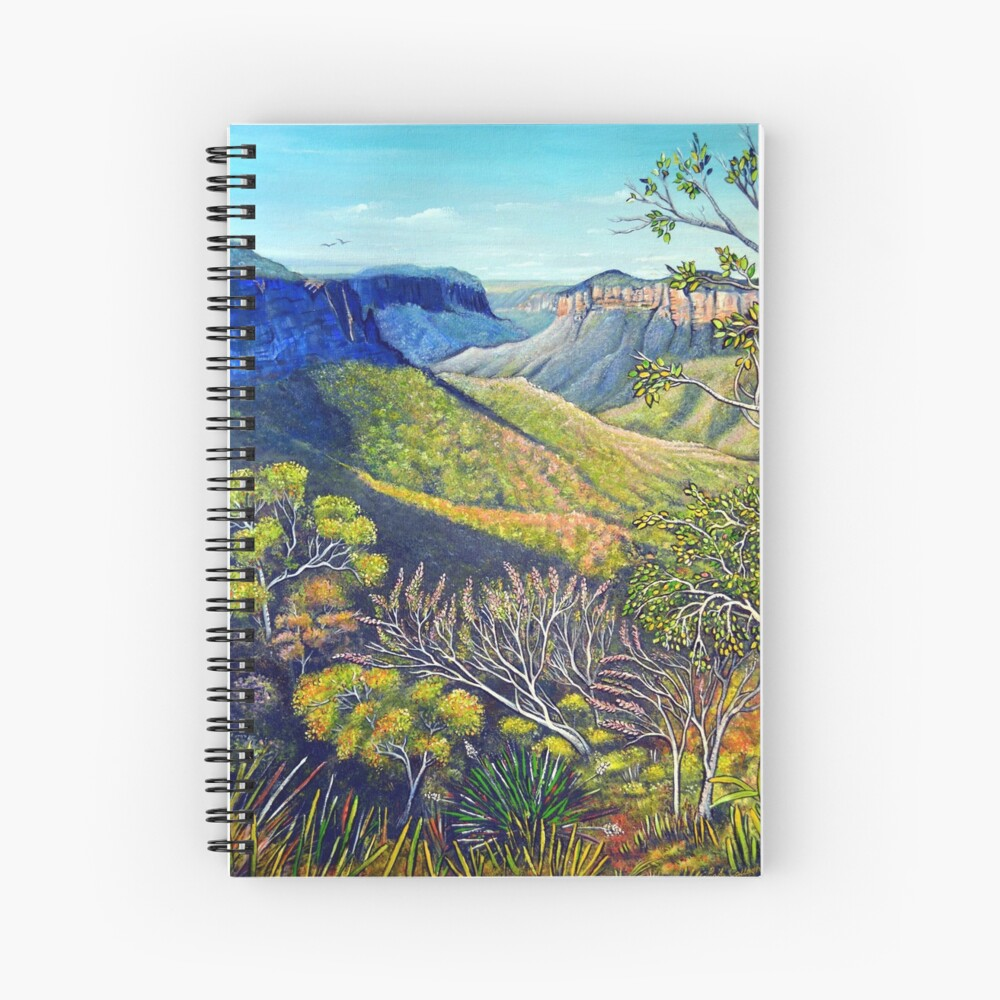 Govetts Leap Lookout, Blue Mountains Spiral Notebook