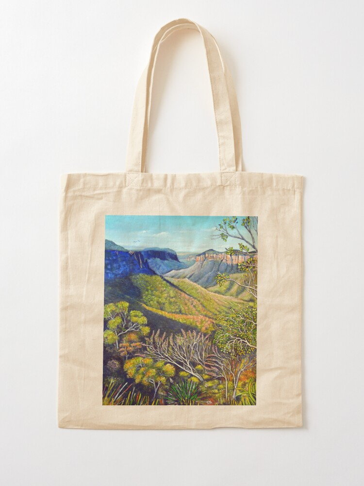 Alternate view of Govetts Leap Lookout, Blue Mountains Tote Bag