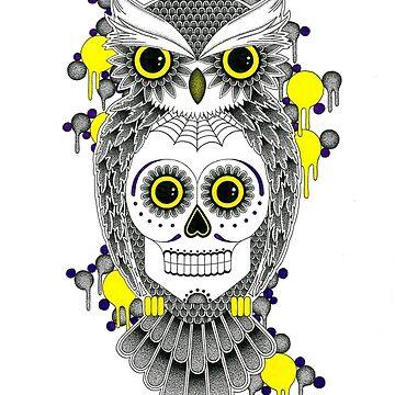 Sugar Skull Owl by richbanks