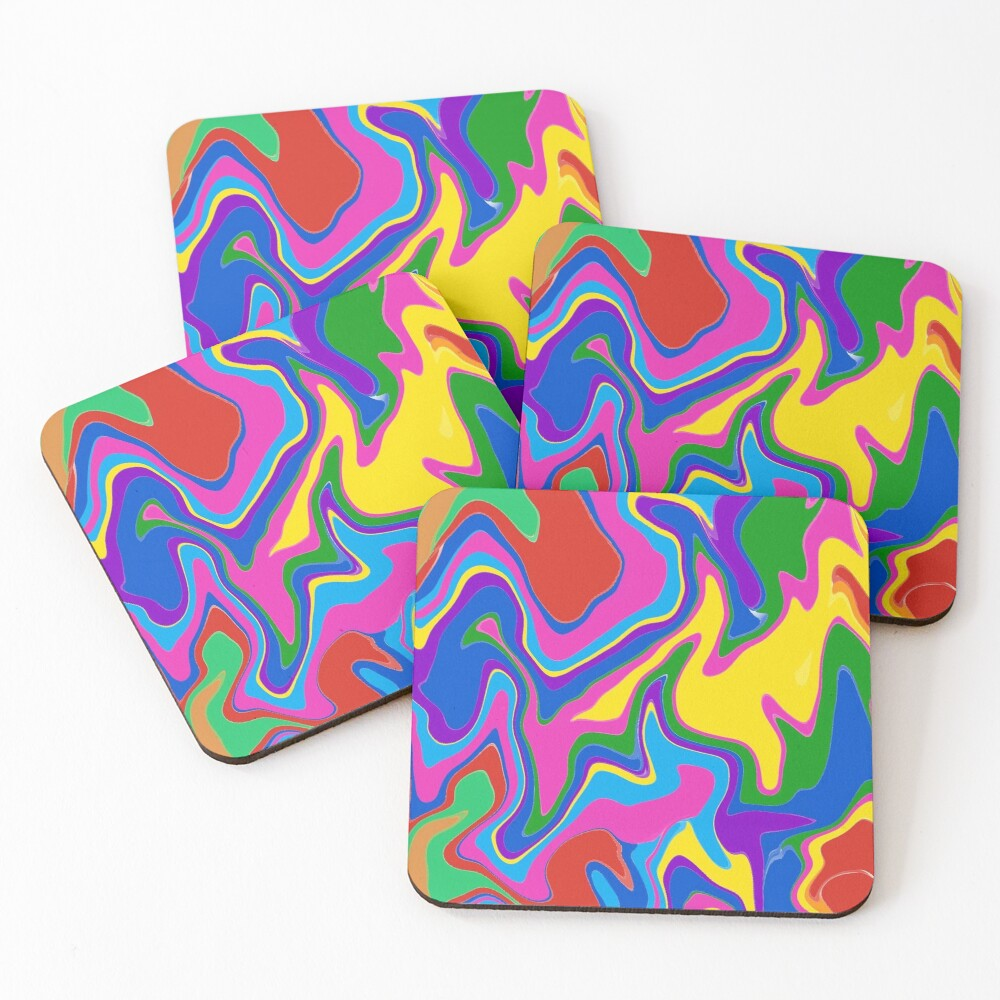 Groovy! Coasters (Set of 4)