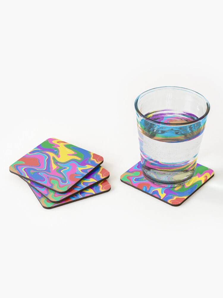 Alternate view of Groovy! Coasters (Set of 4)