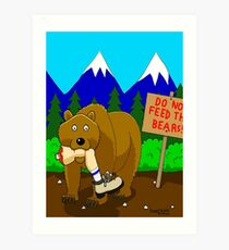Welcome to Montana Art Print