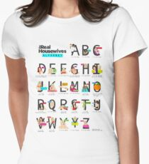 The Real Housewives Alphabet T-Shirt Women's Fitted T-Shirt