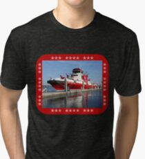 343 ~ FDNY's New Fireboat on Route to New York  Tri-blend T-Shirt
