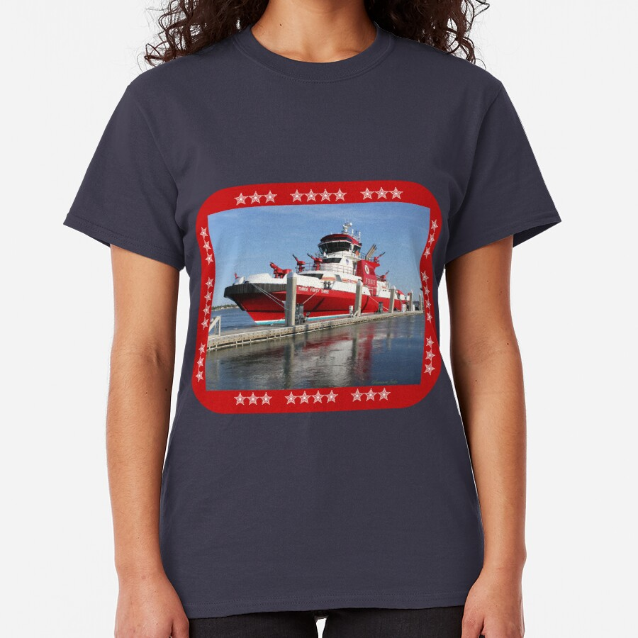 343 ~ FDNY's New Fireboat on Route to New York  Classic T-Shirt