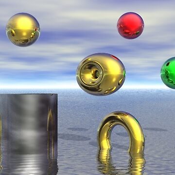 Abstract art floating balls by willie50