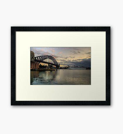 Morning Arrival - Sydney Harbour, Sydney Australia - The HDR Experience Framed Print