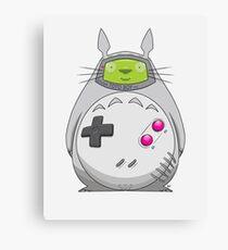 Game Boy Totoro Canvas Print
