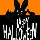 Bat Crawling Halloween by Jokertoons