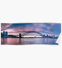 Blush - Sydney Harbour.Sydney Australia (30 Exposure HDR Panorama) - The HDR Experience Poster