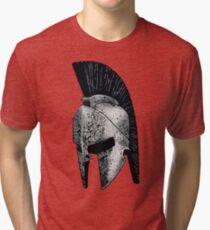 Spartan Helmet Tri-blend T-Shirt