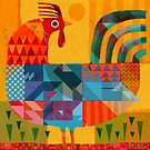 Patchwork Rooster! by Gareth Lucas