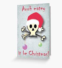 Pirate christmas Greeting Card