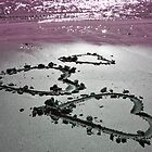 Three Hearts in the Sand by Caroline Hannessen