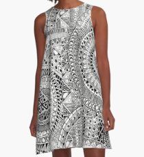 ABC Tribal Graphic: A-Line Dress