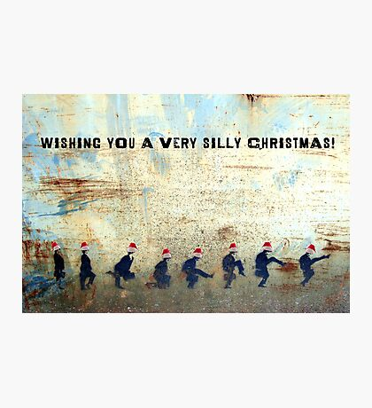 Ministry of Silly Christmas - WITH TEXT Photographic Print