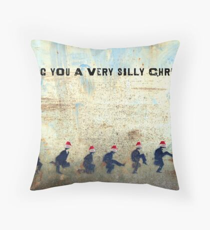 Ministry of Silly Christmas - WITH TEXT Throw Pillow