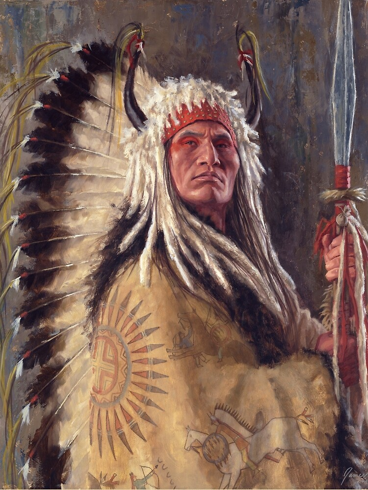 Quot Black Rock Two Kettle Chief Native American Art James