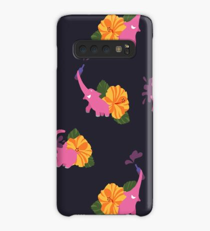pink elephant summer flower Case/Skin for Samsung Galaxy