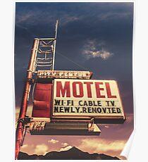 Retro Vintage Motel Sign Poster