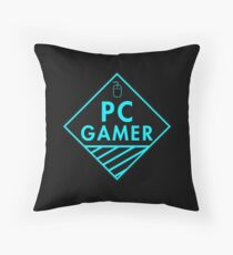 Pc Gaming (Blue) Throw Pillow