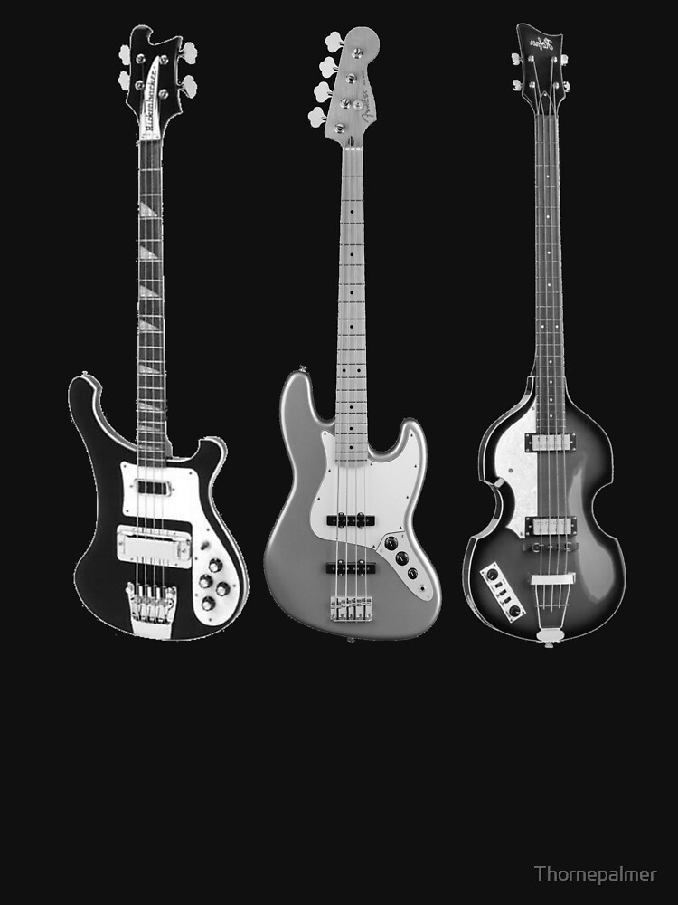 Rickenbacker, Fender, and Hofner basses by Thornepalmer