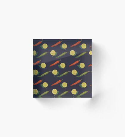 Chilli Lemon Acrylic Block
