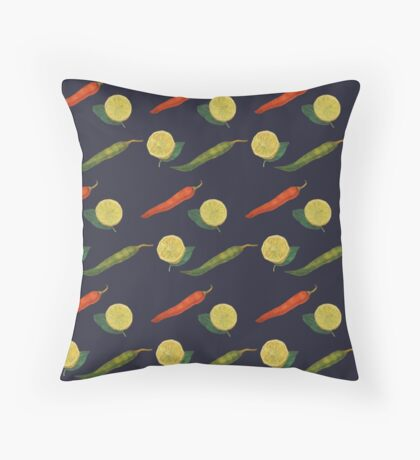 Chilli Lemon Throw Pillow