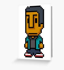 8-Bit Abed Nadir Greeting Card