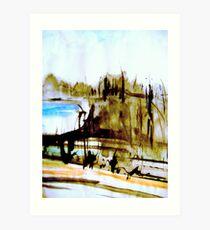 vineyard down to a blue sea #2.. Art Print