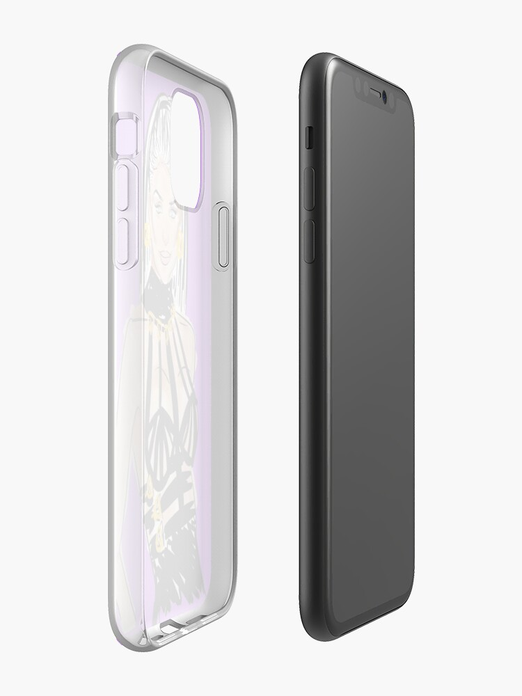 jolie étui iphone 11 ebay - Coque iPhone « Années 90 Versace Fashion Sketch Illustration d'art esthétique », par IrisColon