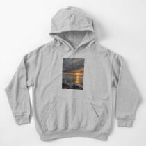 Sunset at sea Kids Pullover Hoodie